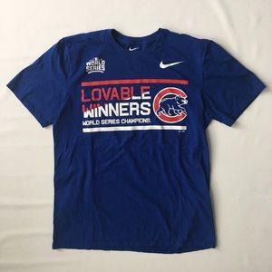 Nike - Chicago Cubs 2017 Champions Shirt - Mens L
